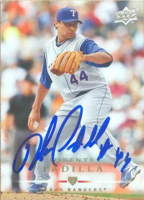 Vicente Padilla Autographed 2008 Upper Deck #229