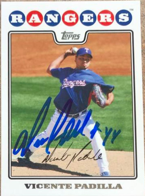 Vicente Padilla Autographed 2008 Topps #659