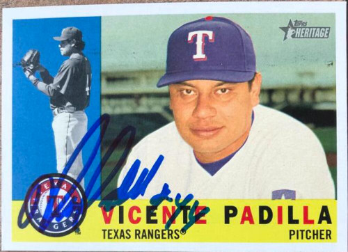 Vicente Padilla Autographed 2009 Topps Heritage #357