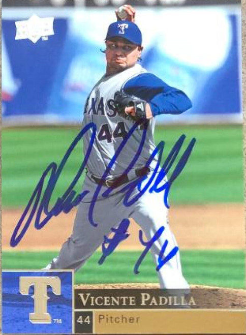 Vicente Padilla Autographed 2009 Upper Deck #380