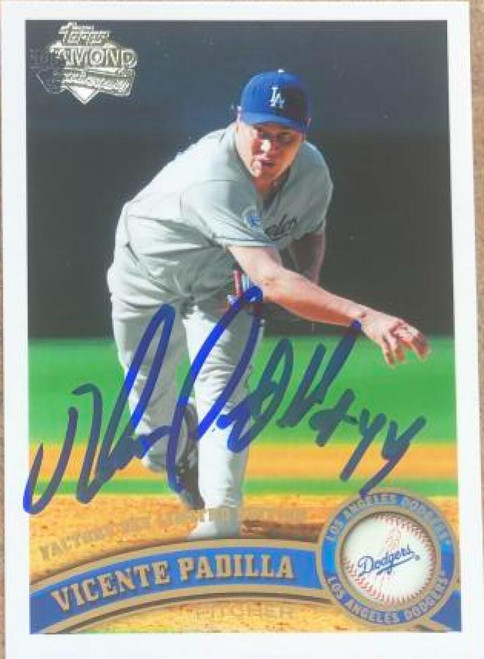 Vicente Padilla Autographed 2011 Topps Diamond Anniversary Factory Set Limited Edition #37