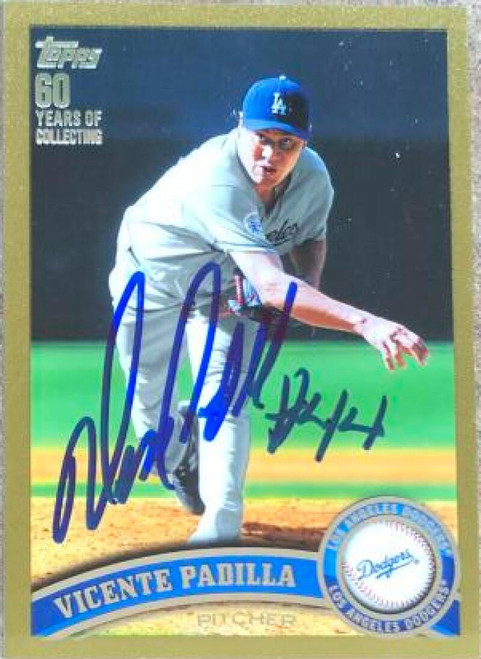 Vicente Padilla Autographed 2011 Topps - Gold #37 LE/2011