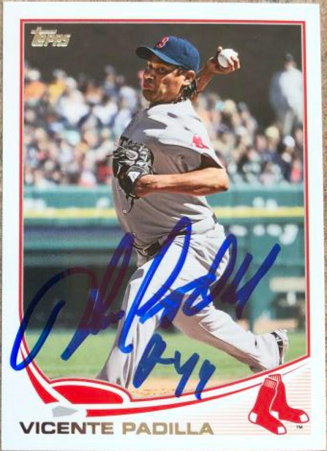 Vicente Padilla Autographed 2013 Topps #279