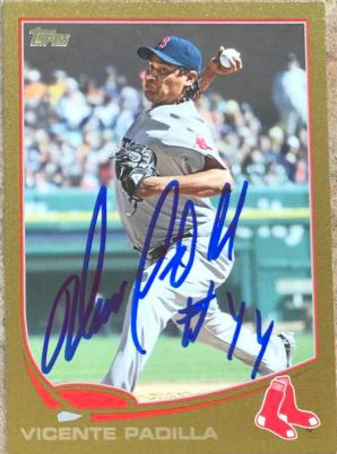 Vicente Padilla Autographed 2013 Topps Gold #279 LE/2013