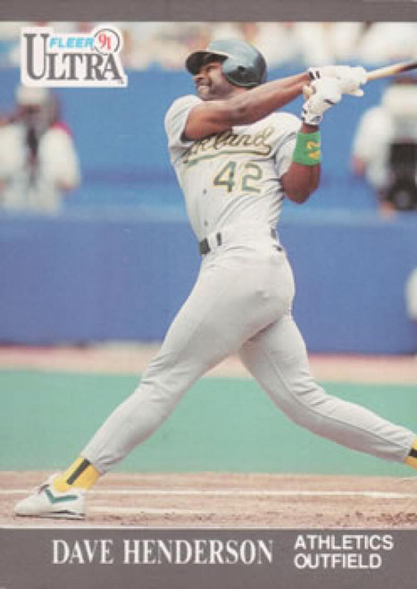 1991 Ultra #247 Dave Henderson VG Oakland Athletics