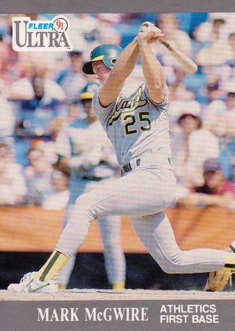 1991 Ultra #251 Mark McGwire VG Oakland Athletics