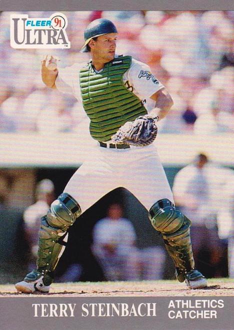 1991 Ultra #253 Terry Steinbach VG Oakland Athletics