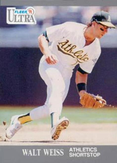 1991 Ultra #255 Walt Weiss VG Oakland Athletics