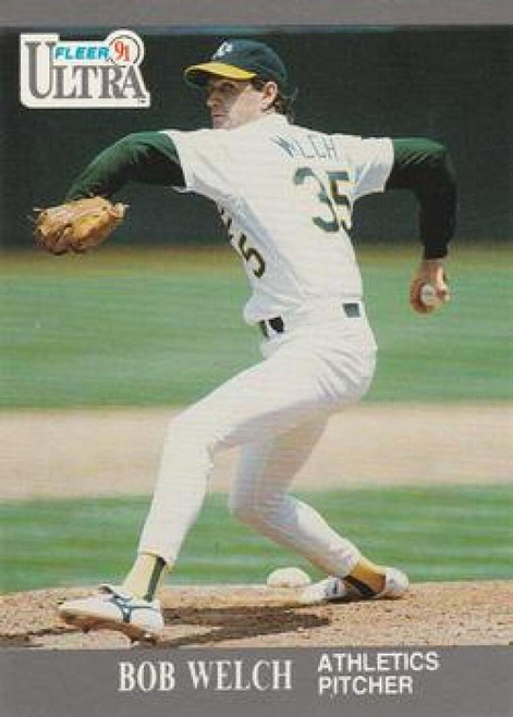 1991 Ultra #256 Bob Welch VG Oakland Athletics