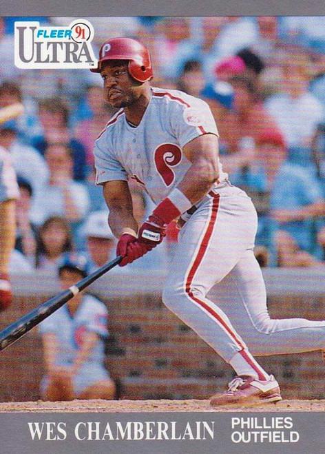 1991 Ultra #258 Wes Chamberlain VG RC Rookie Philadelphia Phillies