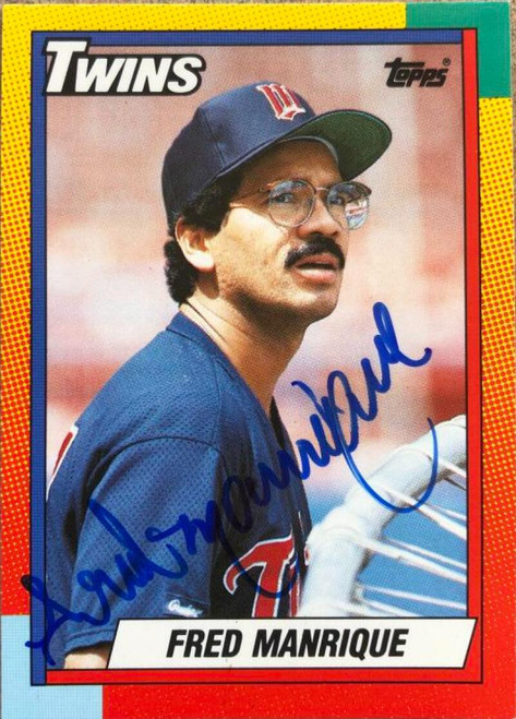 Fred Manrique Autographed 1990 Topps Traded #66T