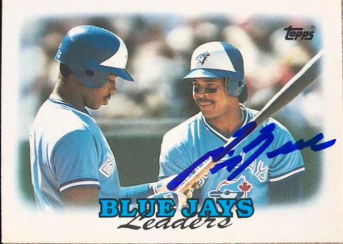 George Bell Autographed 1988 Topps Tiffany #729