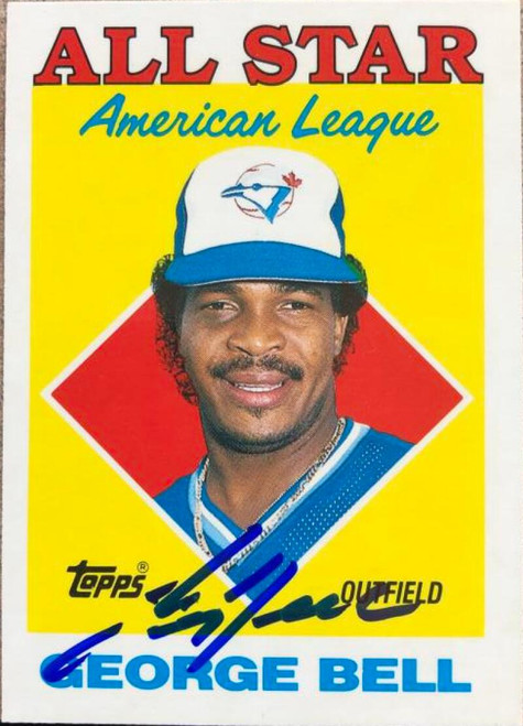 George Bell Autographed 1988 Topps Tiffany #390