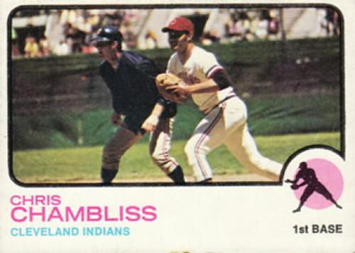 1973 Topps #11 Chris Chambliss UER VG Cleveland Indians