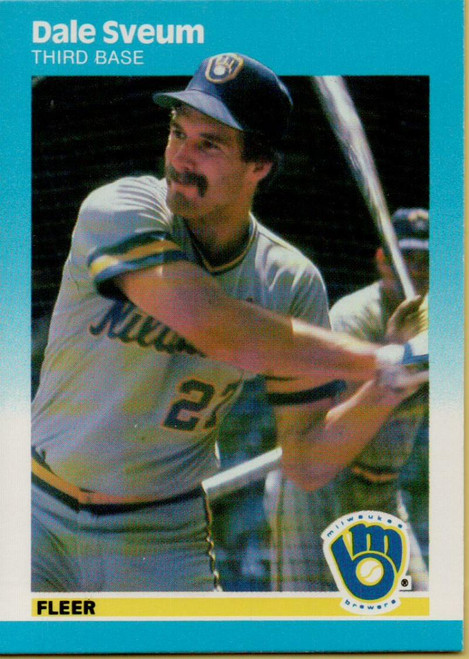 1987 Fleer #358 Dale Sveum NM Milwaukee Brewers