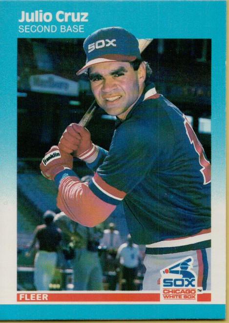 1987 Fleer #492 Julio Cruz NM Chicago White Sox