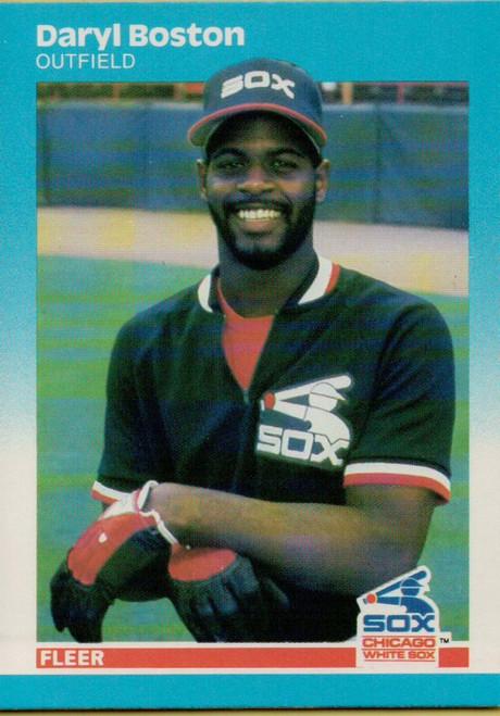 1987 Fleer #487 Daryl Boston NM Chicago White Sox