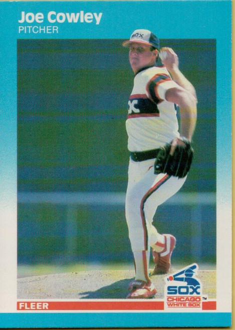 1987 Fleer #491 Joe Cowley NM Chicago White Sox