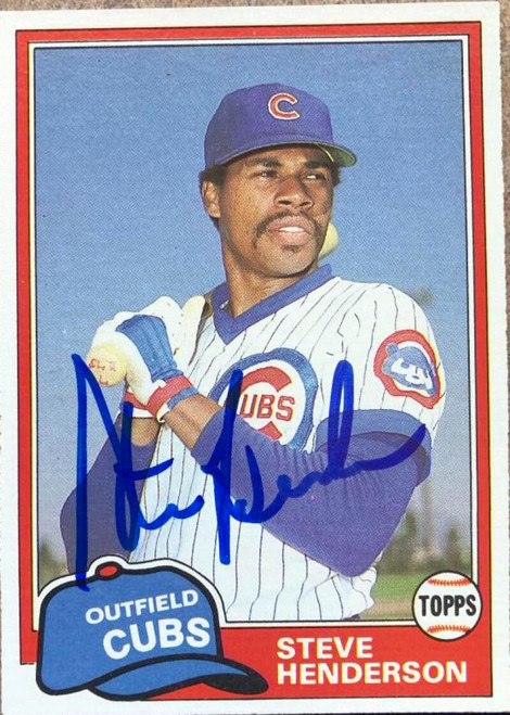 Steve Henderson Autographed 1981 Topps Traded #769