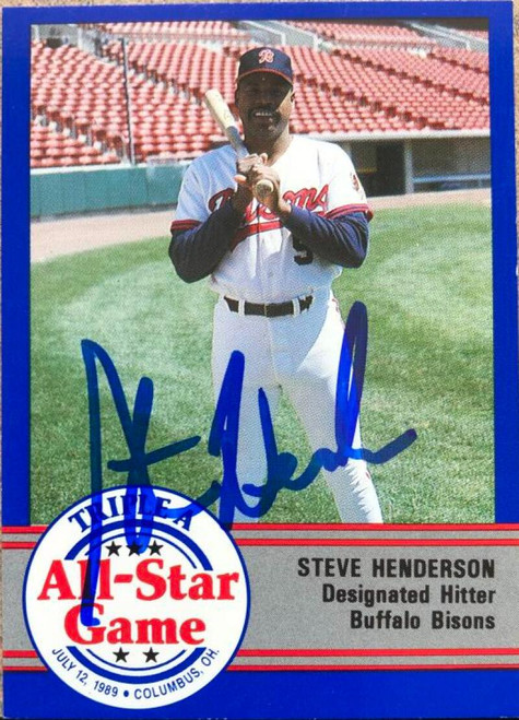 Steve Henderson Autographed 1989 Pro Cards Triple A All-Stars #AAA-22