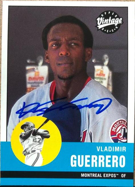 Vladimir Guerrero Autographed 2001 Upper Deck Vintage #246