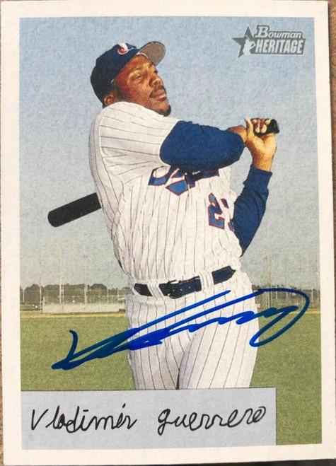 Vladimir Guerrero Autographed 2002 Bowman Heritage #222