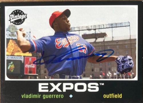 Vladimir Guerrero Autographed 2002 Upper Deck Vintage #190