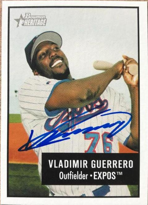 Vladimir Guerrero Autographed 2003 Bowman Heritage #70