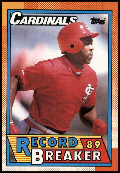 1990 Topps #6 Vince Coleman RB VG St. Louis Cardinals