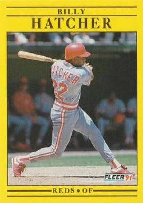 1991 Fleer #66 Billy Hatcher VG Cincinnati Reds
