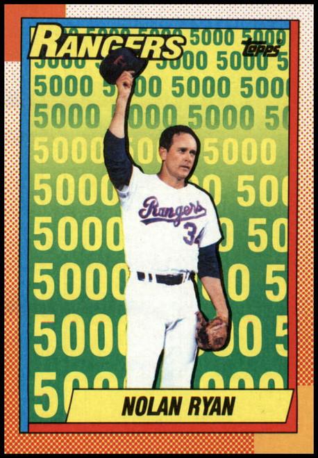 1990 Topps #5 Nolan Ryan UER VG Texas Rangers
