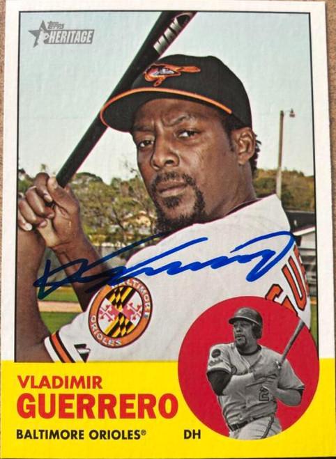 Vladimir Guerrero Autographed 2012 Topps Heritage #108