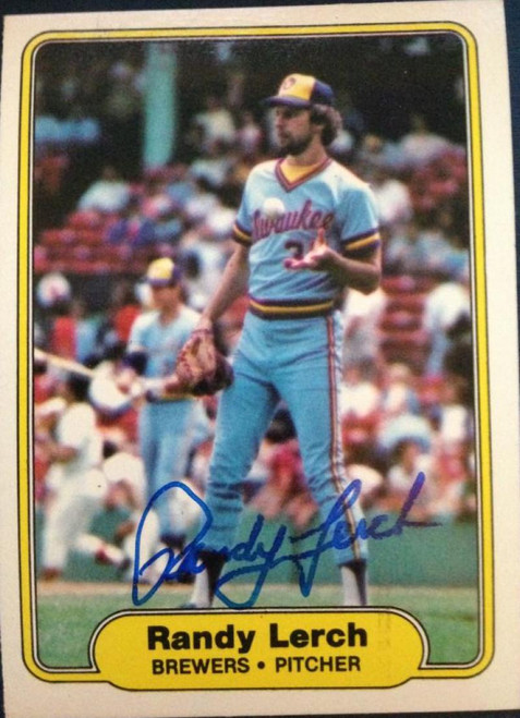 Randy Lerch Autographed 1982 Fleer #147