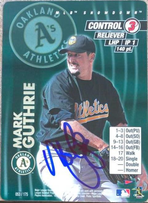 Mark Guthrie Autographed 2001 MLB Showdown 1st Edition #455 ID: 119323