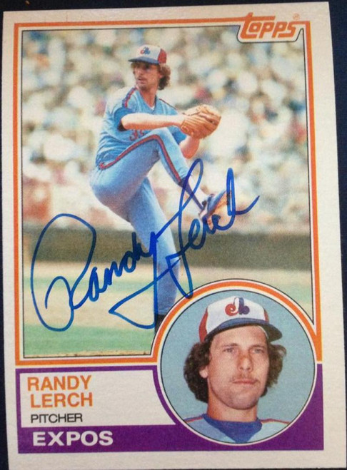Randy Lerch Autographed 1983 Topps #686