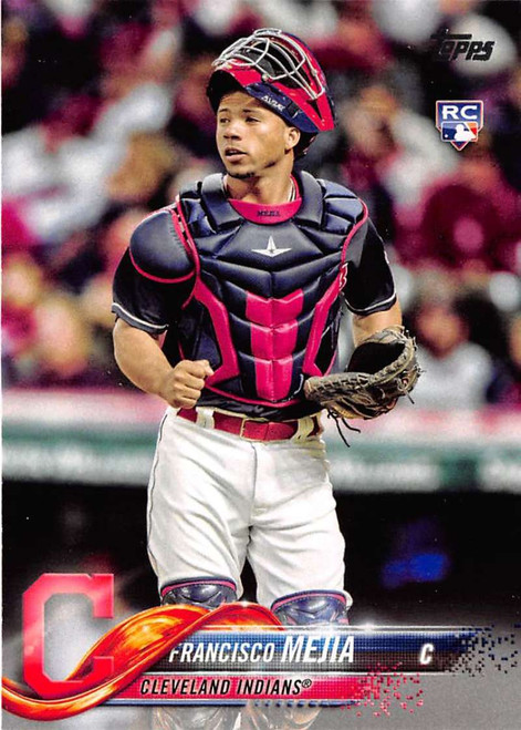 2018 Topps #244 Francisco Mejia NM-MT RC Rookie Cleveland Indians