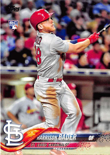 2018 Topps #21 Harrison Bader NM-MT RC Rookie St. Louis Cardinals