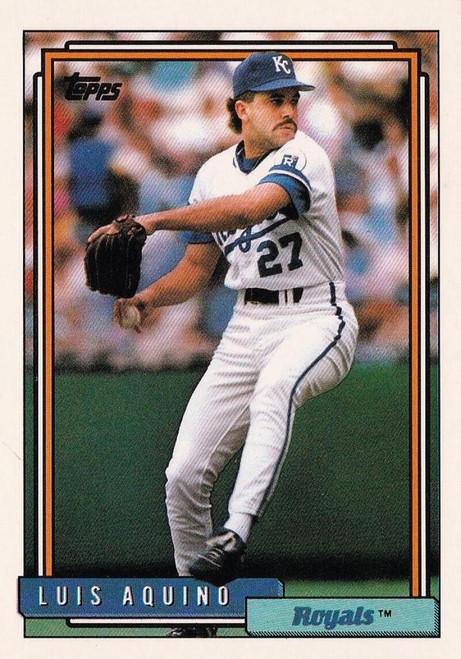 1992 Topps #412 Luis Aquino VG Kansas City Royals