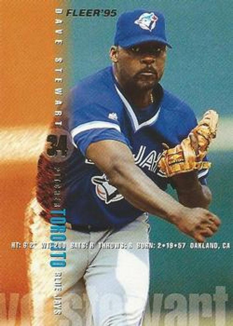 1995 Fleer #105 Dave Stewart VG Toronto Blue Jays