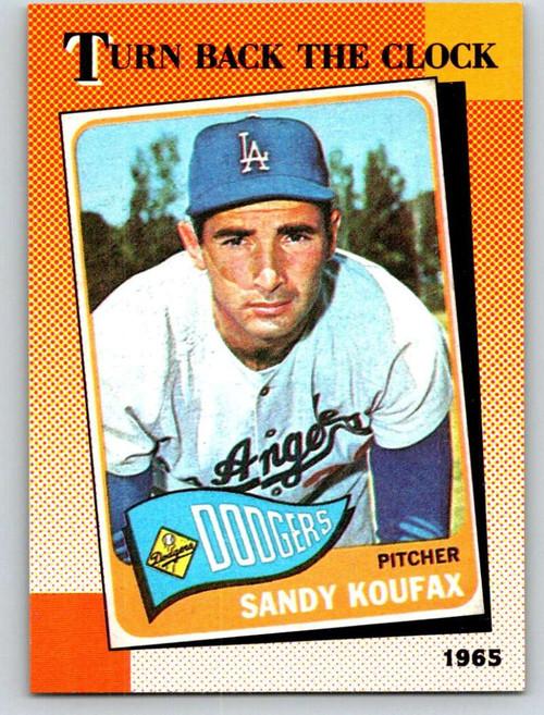 1990 Topps #665 Sandy Koufax TBC VG Los Angeles Dodgers