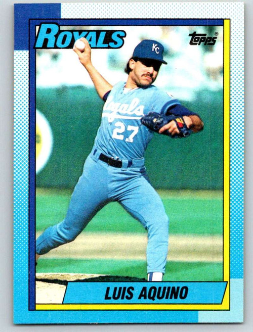 1990 Topps #707 Luis Aquino VG Kansas City Royals