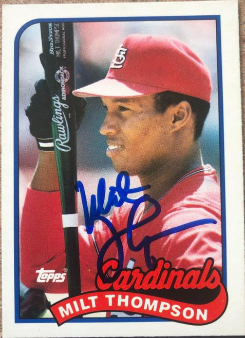 Milt Thompson Autographed 1989 Topps Traded #118T