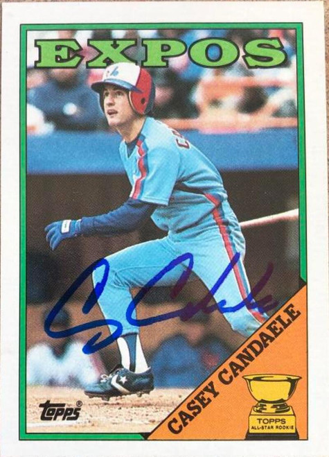 Casey Candaele Autographed 1988 Topps #431