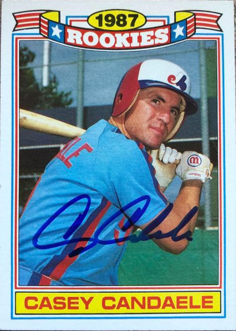 Casey Candaele Autographed 1988 Topps Glossy Rookies #11
