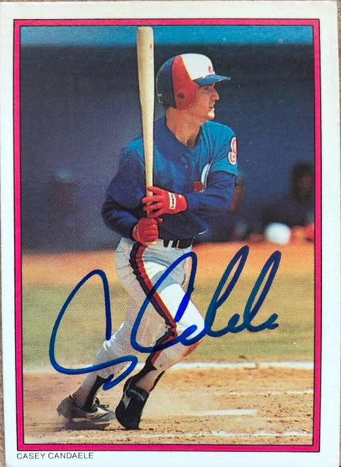Casey Candaele Autographed 1988 Topps All-Star Set Collectors Edition (Glossy Send Ins) #60