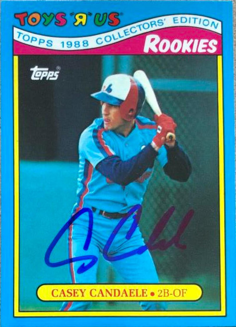 Casey Candaele Autographed 1988 Topps Toys R Us Rookies #7