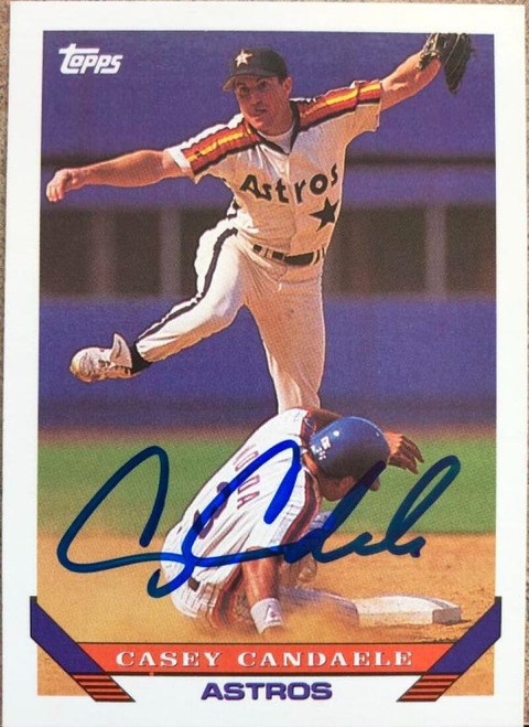Casey Candaele Autographed 1993 Topps #584