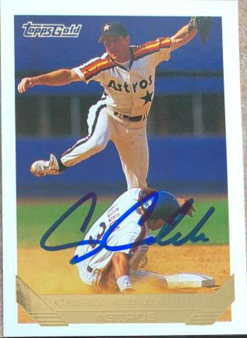 Casey Candaele Autographed 1993 Topps Gold #584