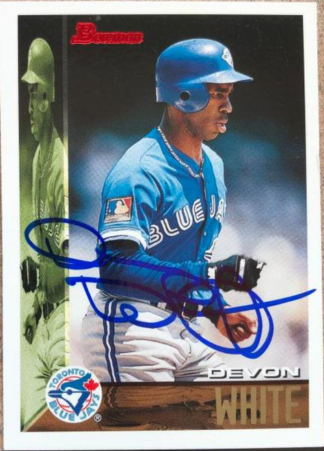Devon White Autographed 1995 Bowman #397