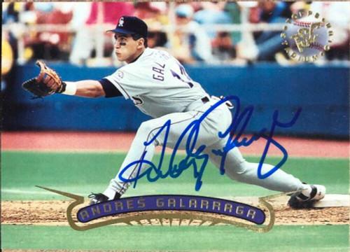 Andres Galarraga Autographed 1996 Stadium Club #150